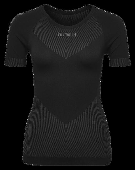HUMMEL FIRST SEAMLESS JERSEY S/S WOMAN, BLACK, packshot