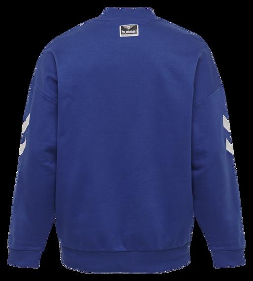 hmlCHRIS LOOSE SWEATSHIRT, MAZARINE BLUE, packshot