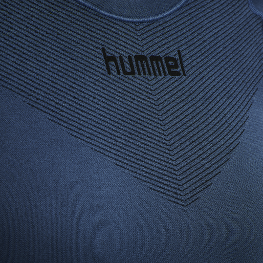 HUMMEL FIRST SEAMLESS JERSEY L/S WOMAN, DARK DENIM, packshot