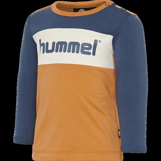 hmlCLYDE T-SHIRT L/S, APRICOT BUFF, packshot