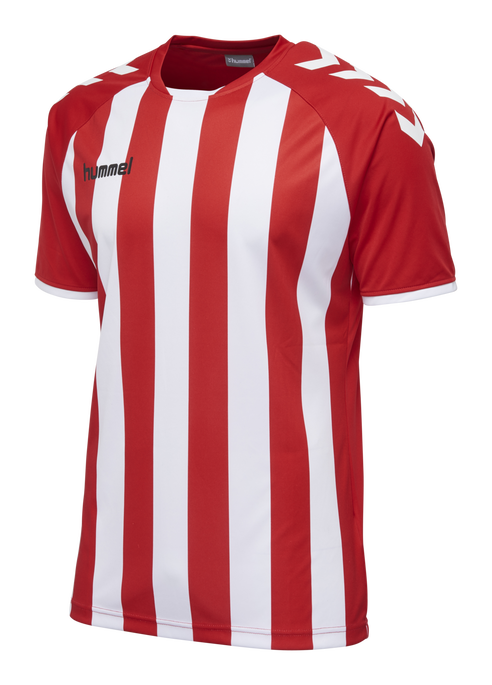 CORE STRIPED SS JERSEY, TRUE RED/WHITE, packshot