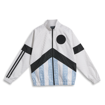 hmlNIELS NEWSTOCK ZIP JACKET, WHITE, packshot