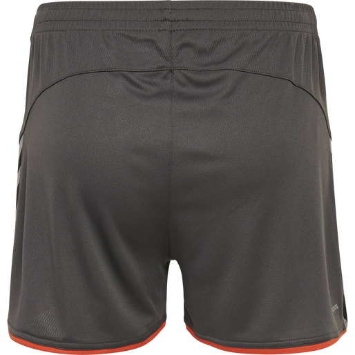 hmlAUTHENTIC POLY SHORTS WOMAN, ASPHALT, packshot