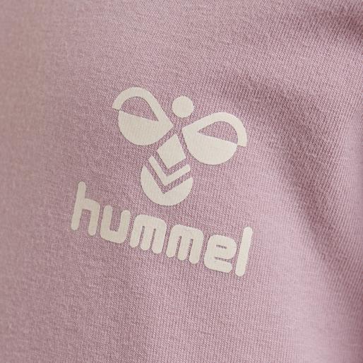 hmlMAUI T-SHIRT L/S, MAUVE SHADOW, packshot