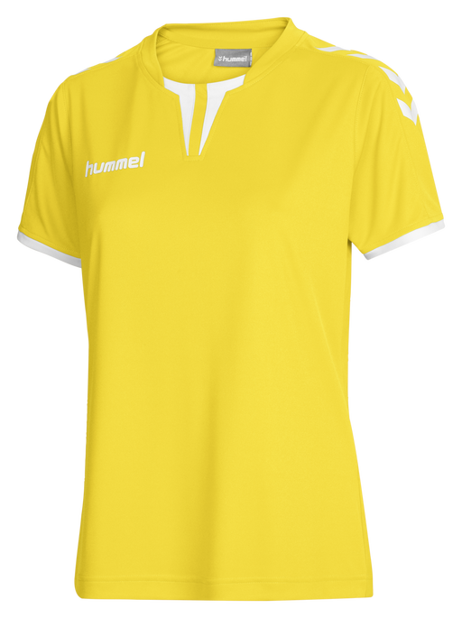 CORE WOMENS SS JERSEY, SPORTS YELLOW PR, packshot