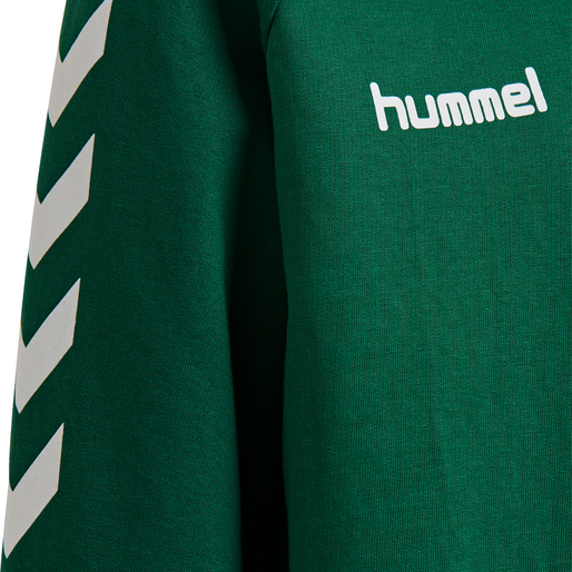 HUMMEL GO KIDS COTTON SWEATSHIRT, EVERGREEN, packshot