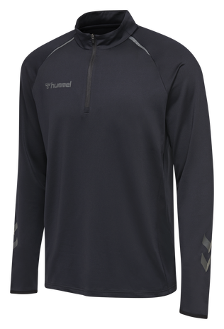 hmlAUTHENTIC PRO HALF ZIP SWEAT, ANTHRACITE, packshot