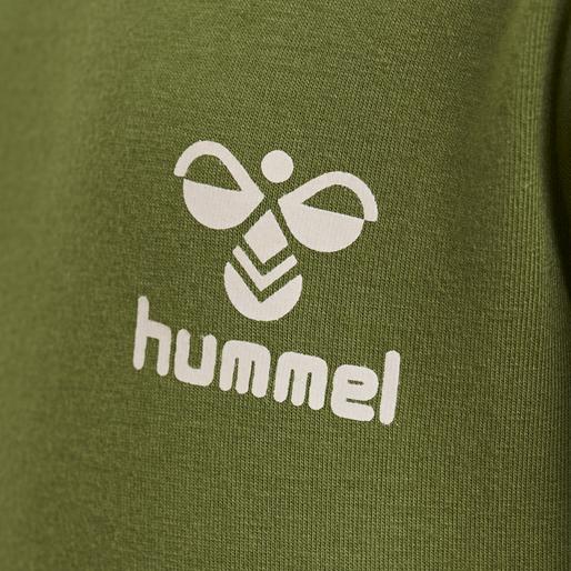 hmlMAUI T-SHIRT L/S, PESTO, packshot