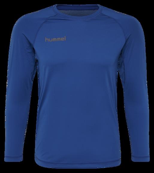 HUMMEL FIRST PERFORMANCE KIDS JERSEY L/S, TRUE BLUE, packshot