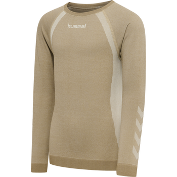 hmlSPIN SEAMLESS T-SHIRT L/S, SIMPLY TAUPE, packshot