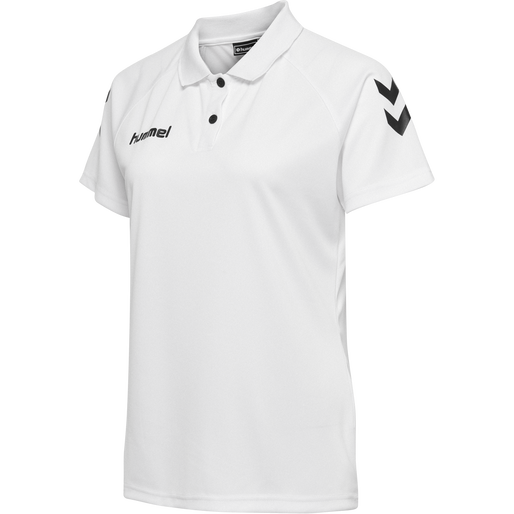 CORE FUNCTIONAL POLO WOMAN, WHITE, packshot