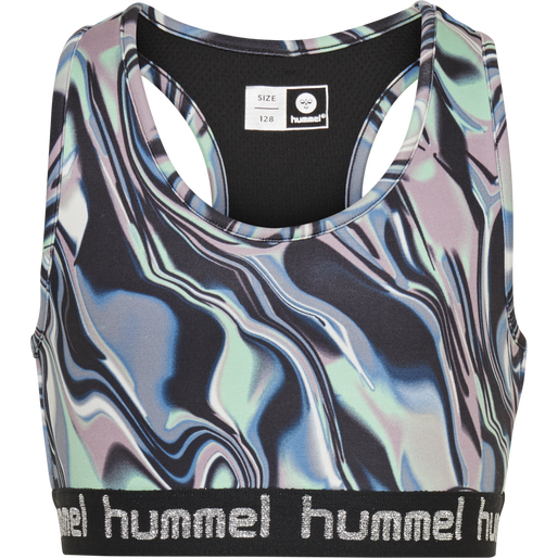 hmlMIMMI SPORTS TOP, GREEN ASH, packshot