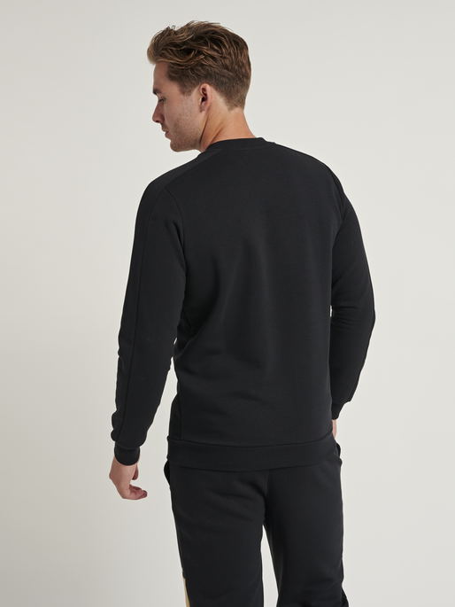 hmlAIDAN SWEATSHIRT, BLACK, model