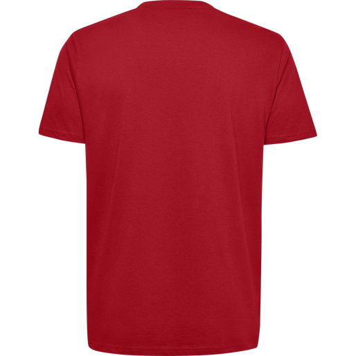 HUMMEL GO COTTON LOGO T-SHIRT S/S, TRUE RED, packshot