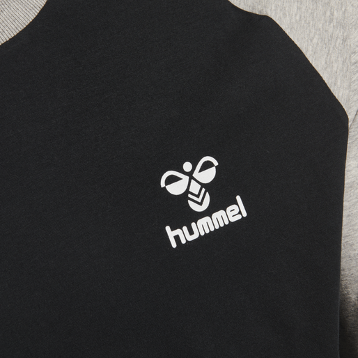 hmlMARK T-SHIRT L/S, BLACK, packshot