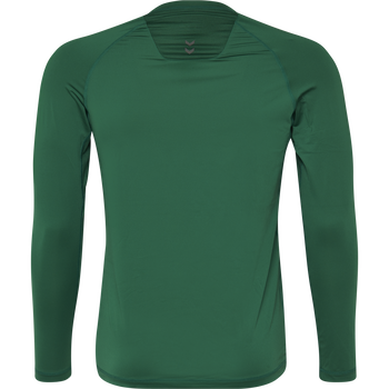 HUMMEL FIRST PERFORMANCE KIDS JERSEY L/S, EVERGREEN, packshot