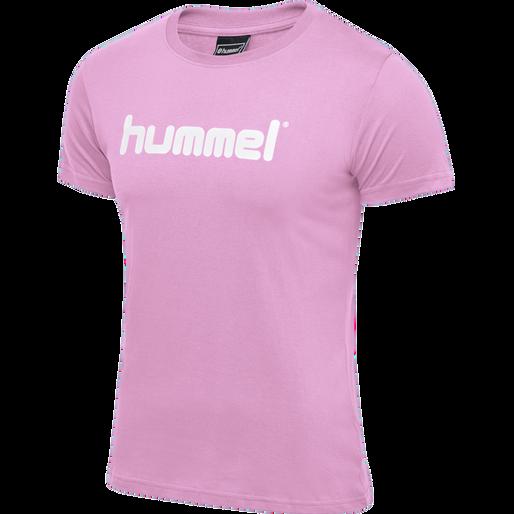 HUMMEL GO COTTON LOGO T-SHIRT WOMAN S/S, COTTON CANDY, packshot