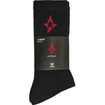 ASTRALIS 3-PACK BASIC SOCKS, BLACK, packshot