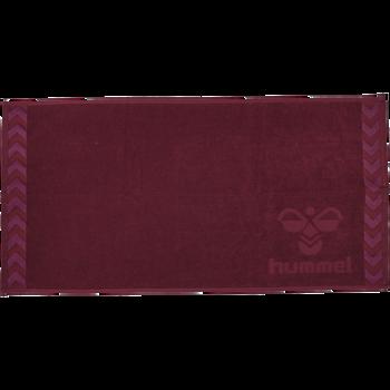 HUMMEL SMALL TOWEL, BIKING RED/RASPBERRY SORBET, packshot