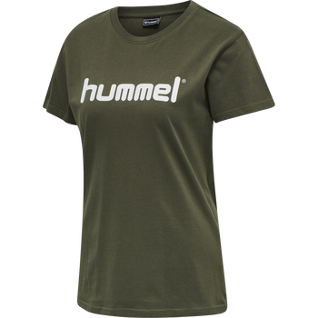 HUMMEL GO COTTON LOGO T-SHIRT WOMAN S/S, GRAPE LEAF, packshot