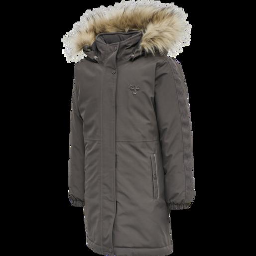 hmlLEAF COAT, PAVEMENT, packshot