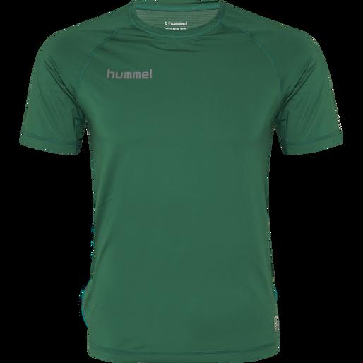 HUMMEL FIRST PERFORMANCE JERSEY S/S, EVERGREEN, packshot