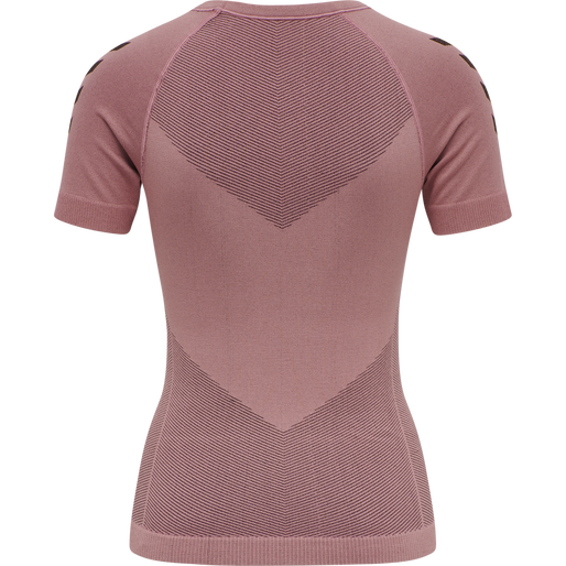HUMMEL FIRST SEAMLESS JERSEY S/S WOMAN, DUSTY ROSE, packshot