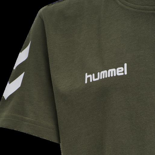 HUMMEL GO KIDS COTTON T-SHIRT S/S, GRAPE LEAF, packshot