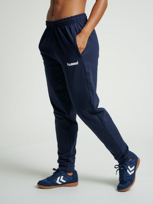 HUMMEL GO COTTON PANT, MARINE, model