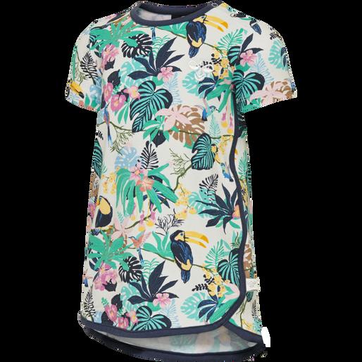 HMLKAIA DRESS S/S, STRAWBERRY CREAM, packshot