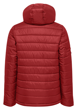 hmlNORTH QUILTED HOOD JACKET KIDS, TRUE RED, packshot