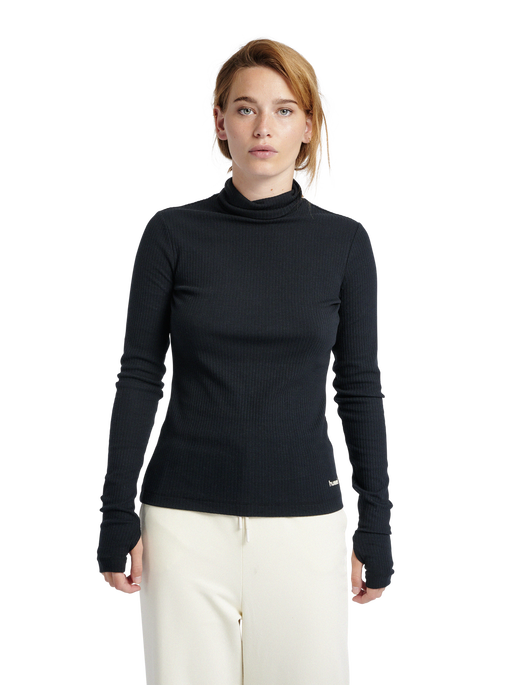 hmlBELL TURTLE NECK L/S, BLACK, model