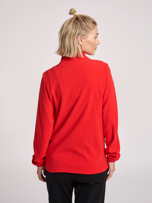 hmlNORTH FULL ZIP FLEECE JACKET WOMAN, TRUE RED, model