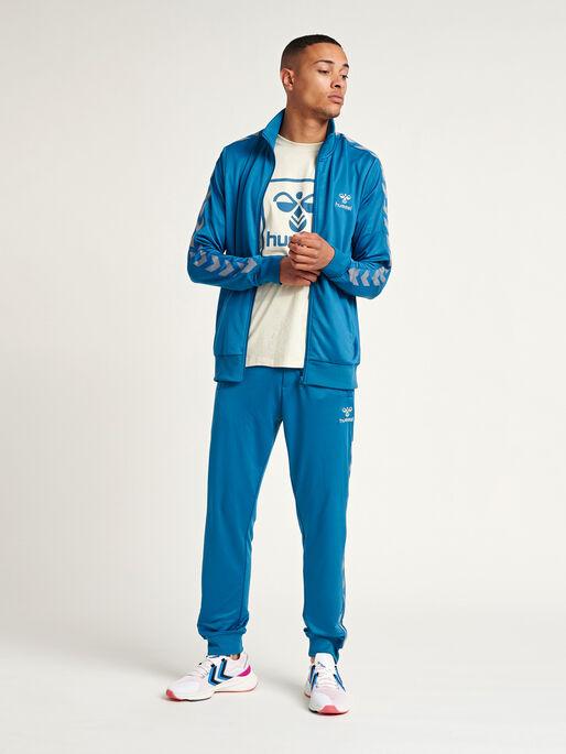 HMLNATHAN PANTS, BLUE SAPPHIRE, model