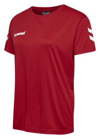 CORE POLY TEE WOMAN , TRUE RED, packshot
