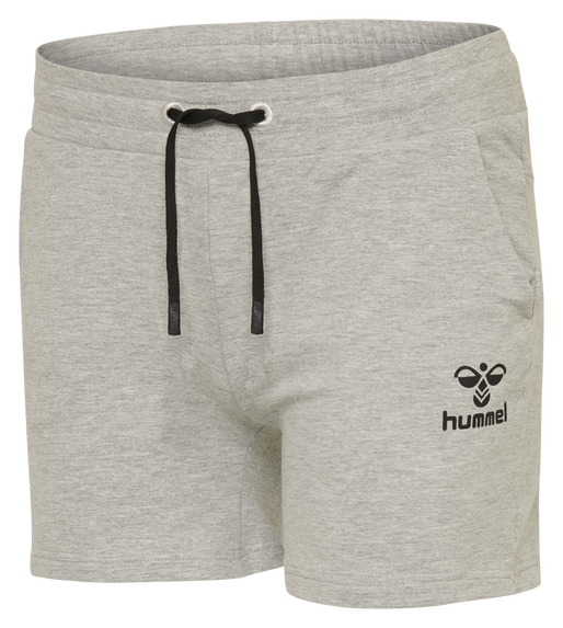 hmlNICA SHORTS, GREY MELANGE, packshot
