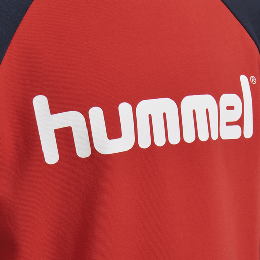 HMLBOYS T-SHIRT L/S, FLAME SCARLET, packshot