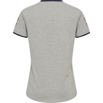 hmlCIMA T-SHIRT WOMAN, GREY MELANGE, packshot