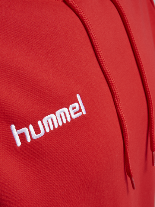 CORE COTTON HOODIE, TRUE RED, packshot
