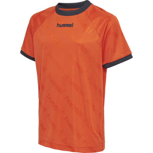 hmlLUCAS T-SHIRT S/S, MANDARIN RED, packshot