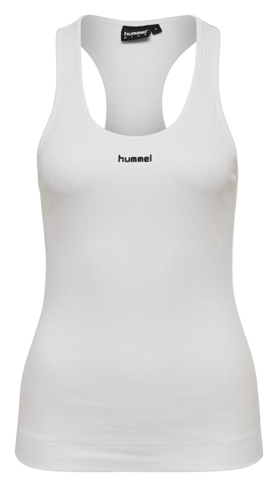 hmlSOL RIB TANK TOP, WHITE, packshot