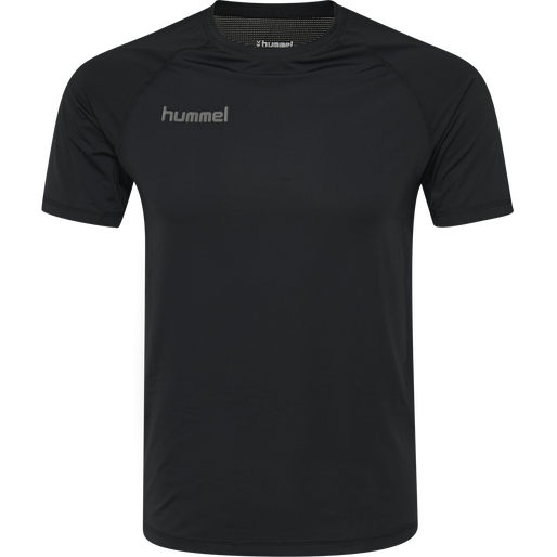 HUMMEL FIRST PERFORMANCE KIDS JERSEY S/S, BLACK, packshot