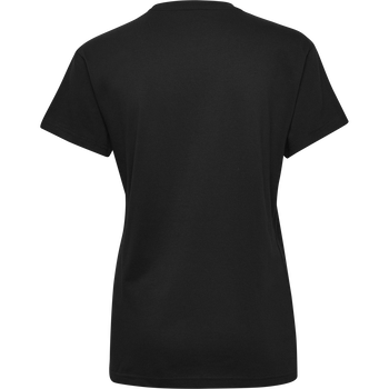 HUMMEL GO COTTON LOGO T-SHIRT WOMAN S/S, BLACK, packshot