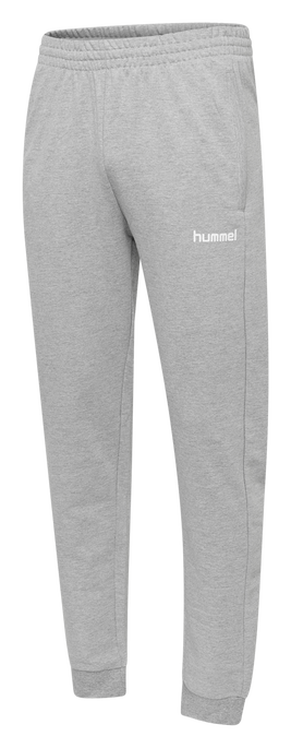 HUMMEL GO COTTON PANT, GREY MELANGE, packshot