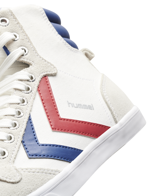 HUMMEL SLIMMER STADIL HIGH, WHITE/BLUE/RED/GUM, packshot