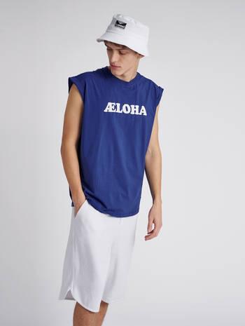 hmlAELOHA LOOSE T-SHIRT S/L, MAZARINE BLUE, model
