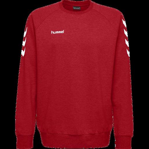 HUMMEL GO COTTON SWEATSHIRT, TRUE RED, packshot