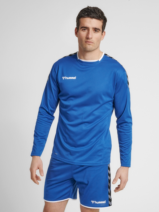 hmlAUTHENTIC POLY JERSEY L/S, TRUE BLUE, model