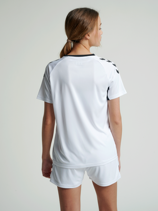 CORE TEAM JERSEY WOMAN S/S, WHITE, model