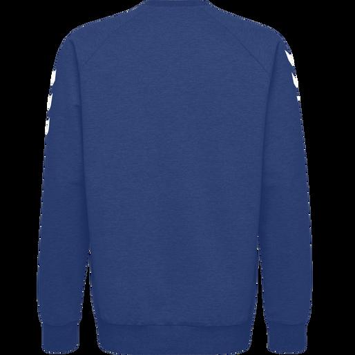 HUMMEL GO COTTON SWEATSHIRT, TRUE BLUE, packshot